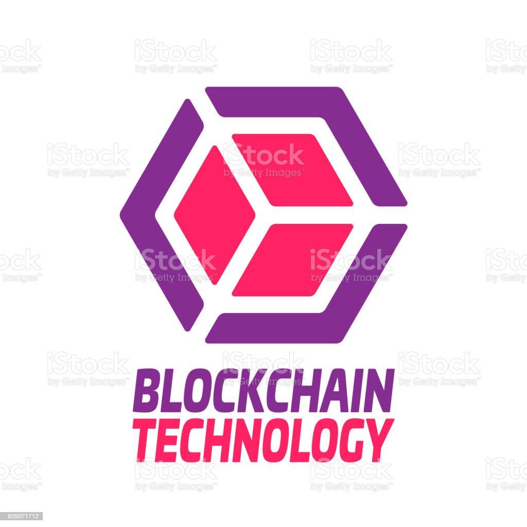 Blockchain Technologie Vektorgrafik Logo Vorlage Konzept Abstrakte ...