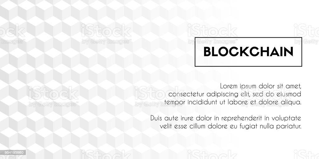 Blockchain Vektor Geometrische Abstrakte Weißen Würfel Hintergrund ...