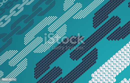 Blockchain abstract background horizontal.