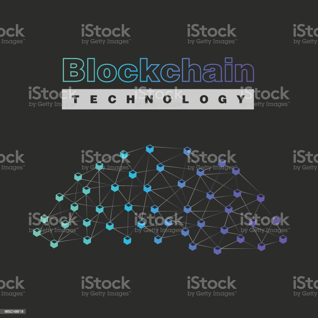 Blockchain vector illustration. Bitcoin and Ethereum trading concept. royalty-free blockchain vector illustration bitcoin and ethereum trading concept stock vector art & more images of bank