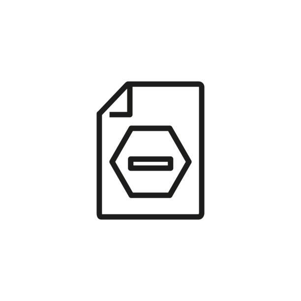 symbol für blockierte dokumentzeile - hypotheken kündigung stock-grafiken, -clipart, -cartoons und -symbole