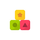 Blocks Flat Icon. Pixel Perfect. For Mobile and Web.