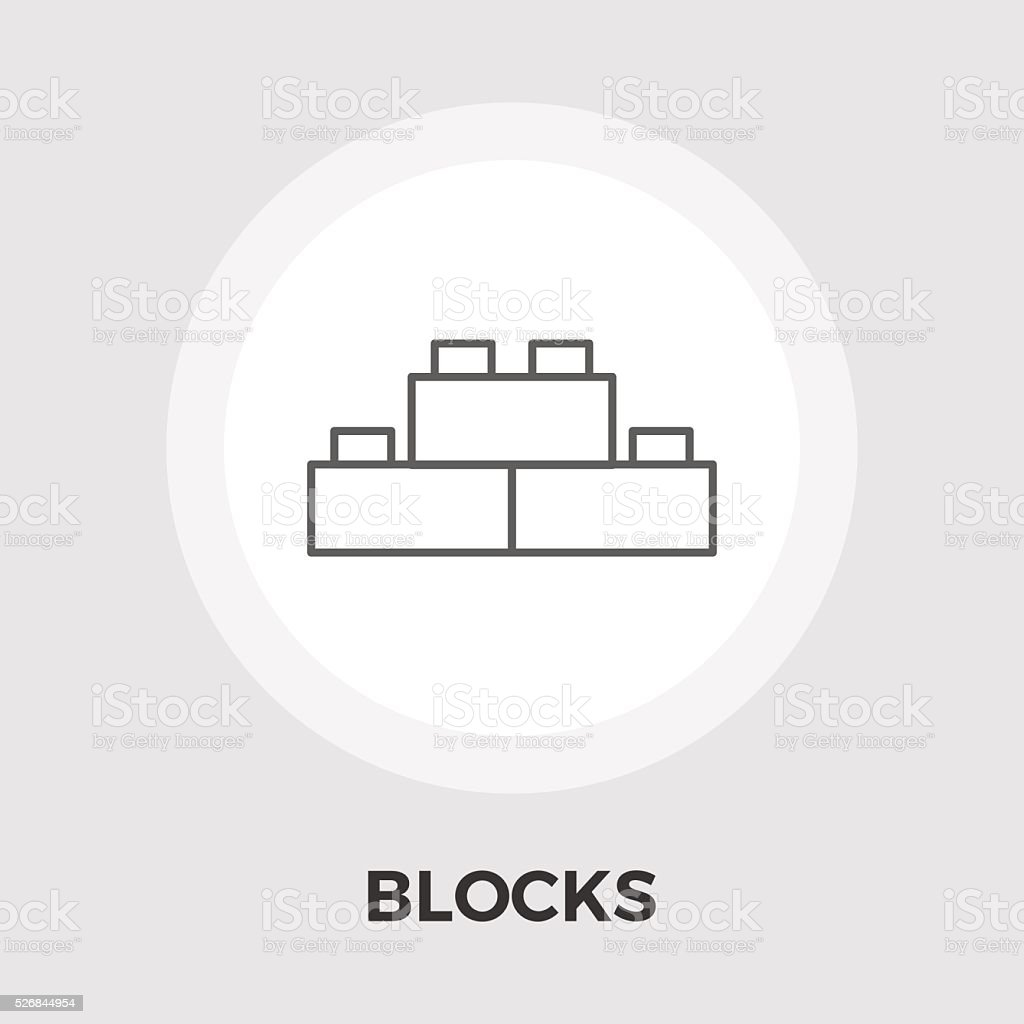 Blocks Vector Flat Icon vector art illustration