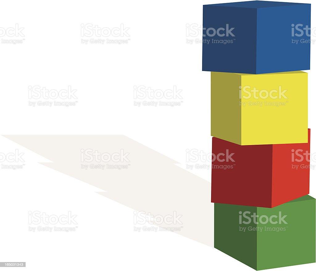 blocks vector art illustration