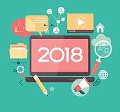 2018 Blog abstract vector illustration
