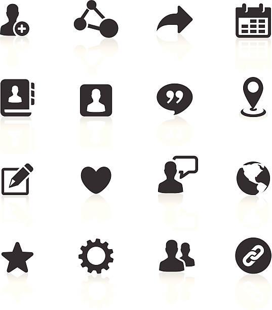 Blog und Social-Media-Symbole – Vektorgrafik