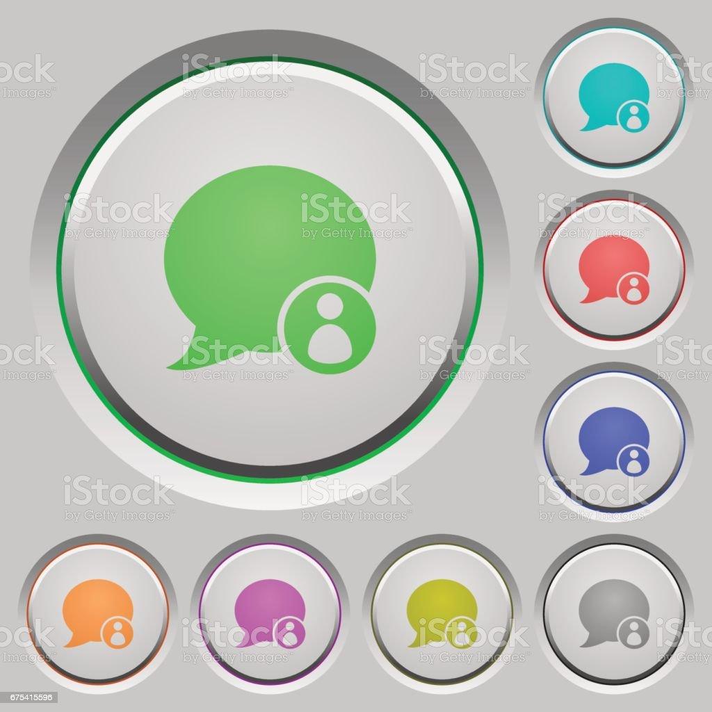 Commentaire de blog propriétaire boutons-poussoirs commentaire de blog propriétaire boutonspoussoirs – cliparts vectoriels et plus d'images de appliquer libre de droits