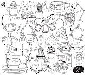 blog doodles set