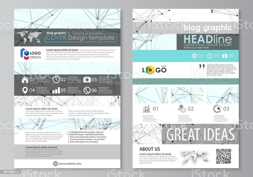 Bloggrafische Businesstemplates Seite Websitedesignvorlage Abstrakte ...