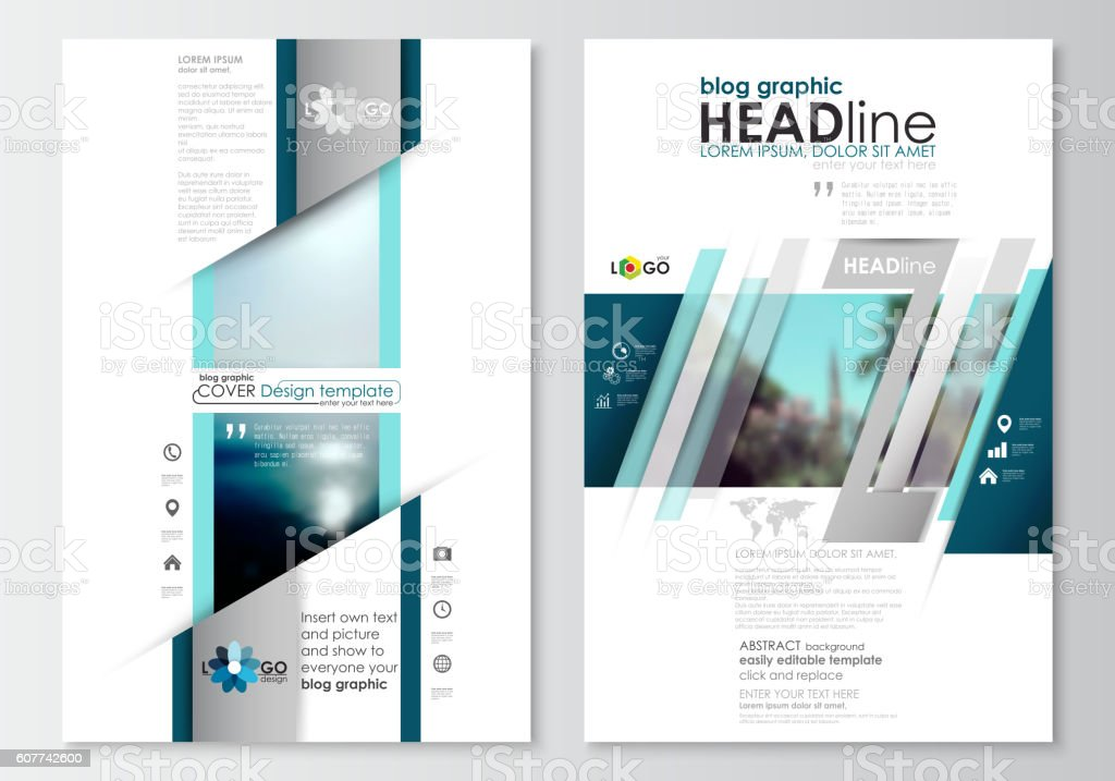 Blog graphic business templates. Page website design template, easy editable vector art illustration