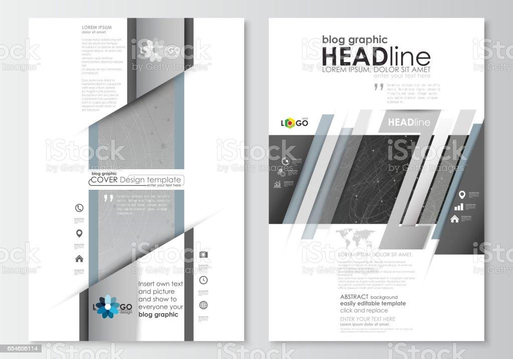 Bloggrafische Businesstemplates Seite Websitedesignvorlage Leicht ...