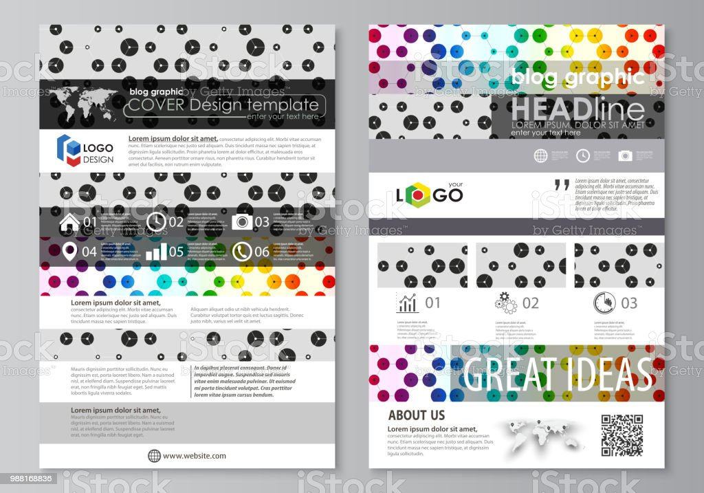 blog graphic business templates page website template abstract