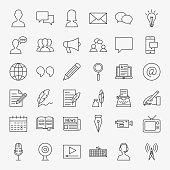 Blog Line Icons Set