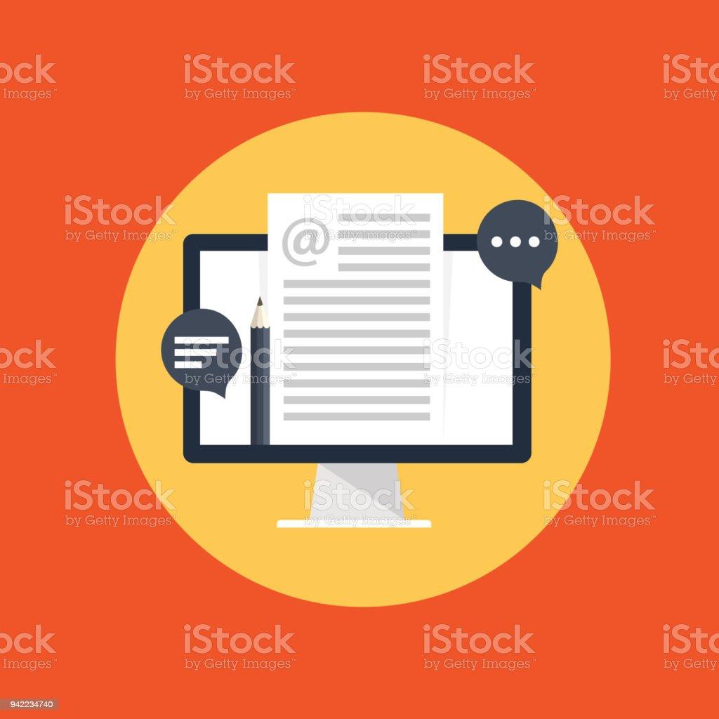 Blog management vector art illustration