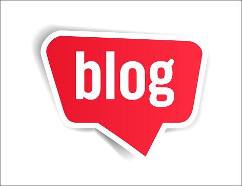 Blog - Speech Bubble, Banner, Paper, Label Template. Vector Stock Illustration