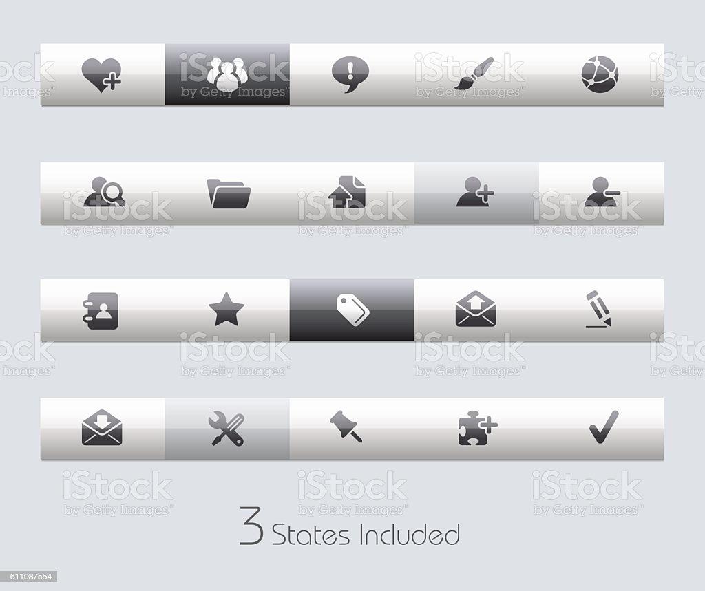 Blog Toolbars - Classic Series - ilustração de arte em vetor