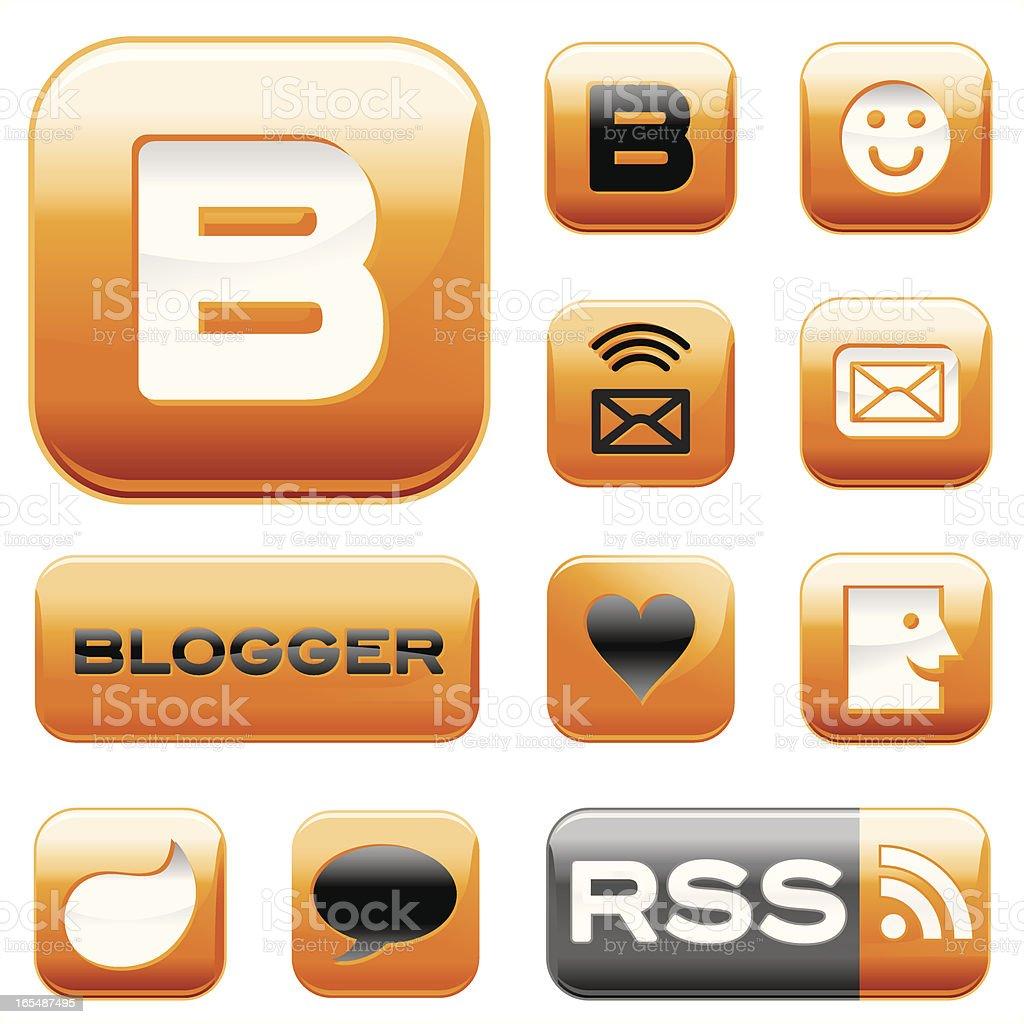 Blogger royalty-free stock vector art