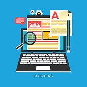istock Blogging, Blogger. Freelance. Creative writing. Copy writer. Content management 1265862066