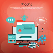 India, Blogging, Search Engine, Contented Emotion, Web Page, Red Background