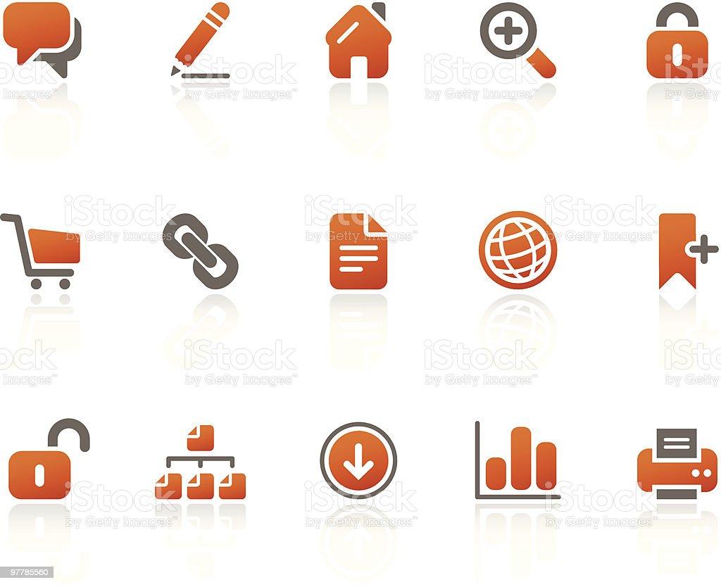 Blogging + Internet icons / tangerine series royalty-free stock vector art