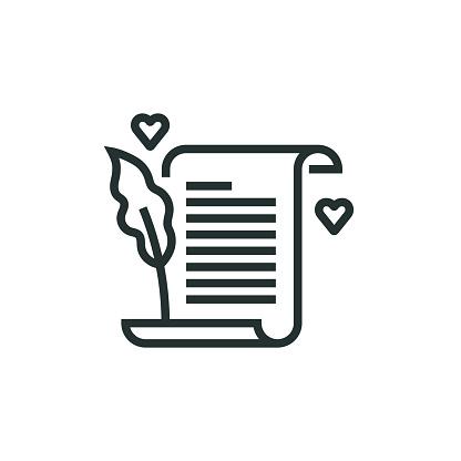 Blogging Line Icon