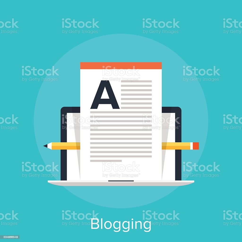 Blogging vector art illustration