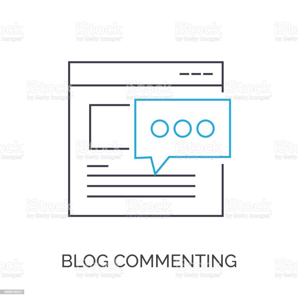 Blogging vector art illustration