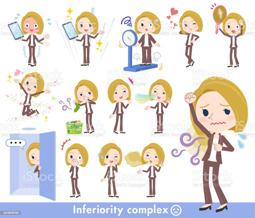 blond hair business women_complex vector art illustration