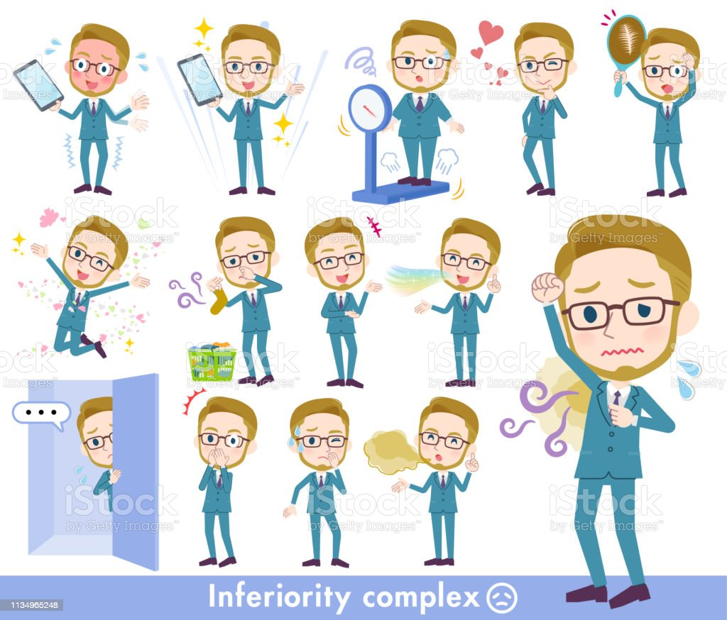blond hair businessman_complex vector art illustration
