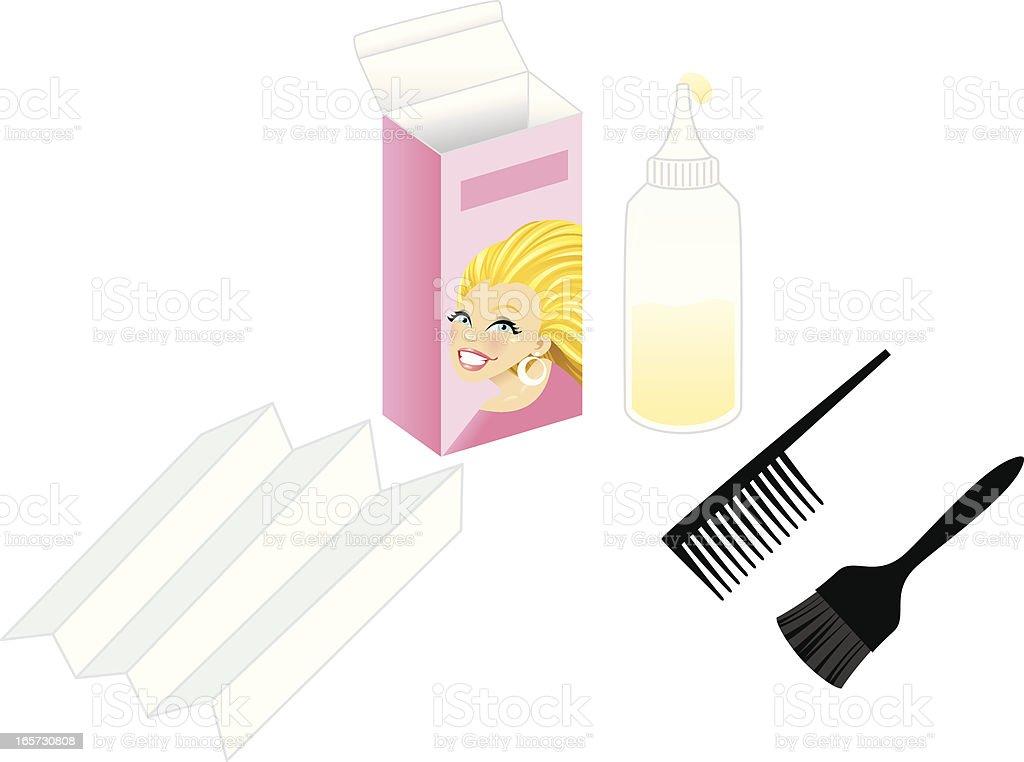 Blond Hair Dye Kit Stock Vector Art More Images Of Beauty