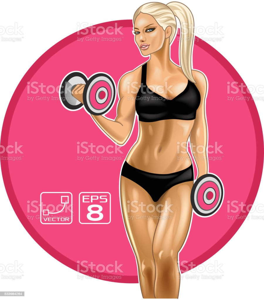 Blonde fitness woman royalty-free blonde fitness woman stock vector art & more images of adult