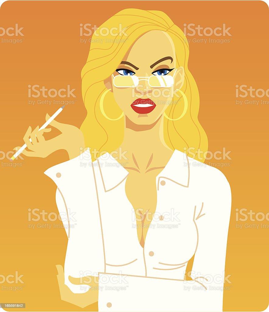Blonde Secretary royalty-free stock vector art