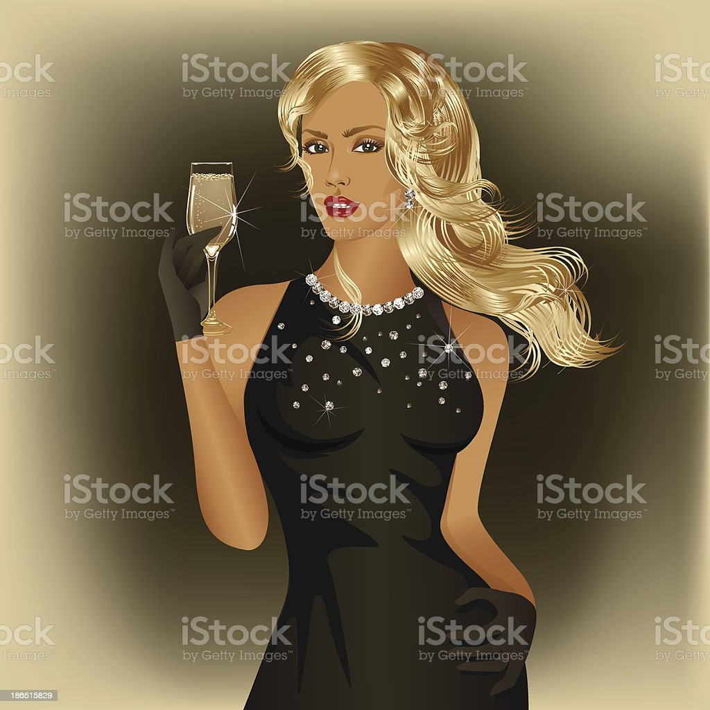 Blonde woman royalty-free blonde woman stock vector art & more images of adult