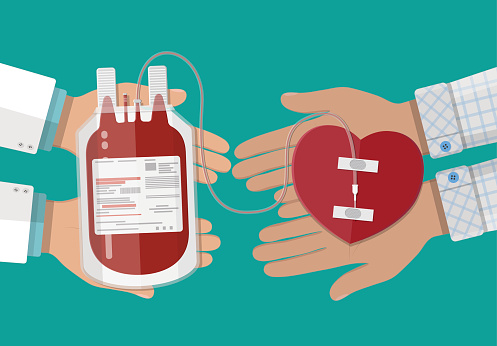 Blood donation stock illustrations
