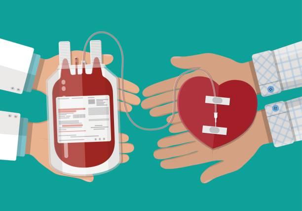 Blood donation stock illustrations