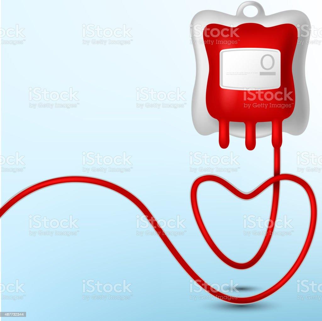 Blood Bag illustration vector art illustration