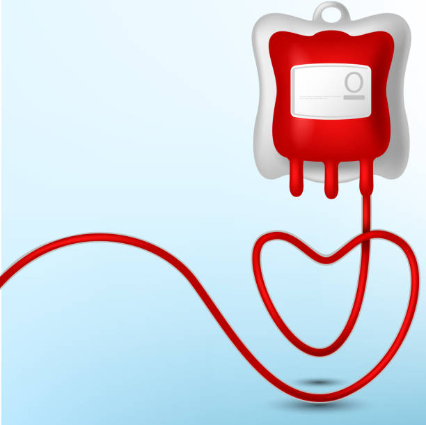 Ilustração de um saco de sangue - ilustração de arte em vetor