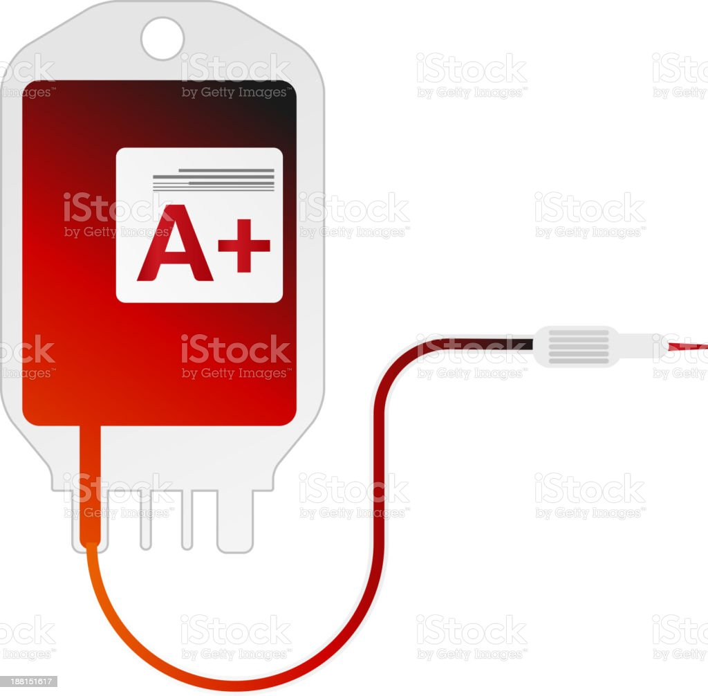 Blood Bag royalty-free stock vector art