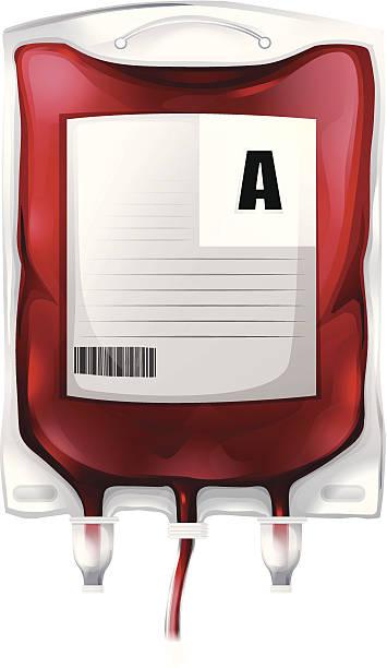 blood bag with type a blood - medical technology 幅插畫檔、美工圖案、卡通及圖標