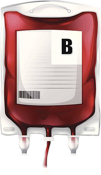 blood bag with type b blood - medical technology 幅插畫檔、美工圖案、卡通及圖標