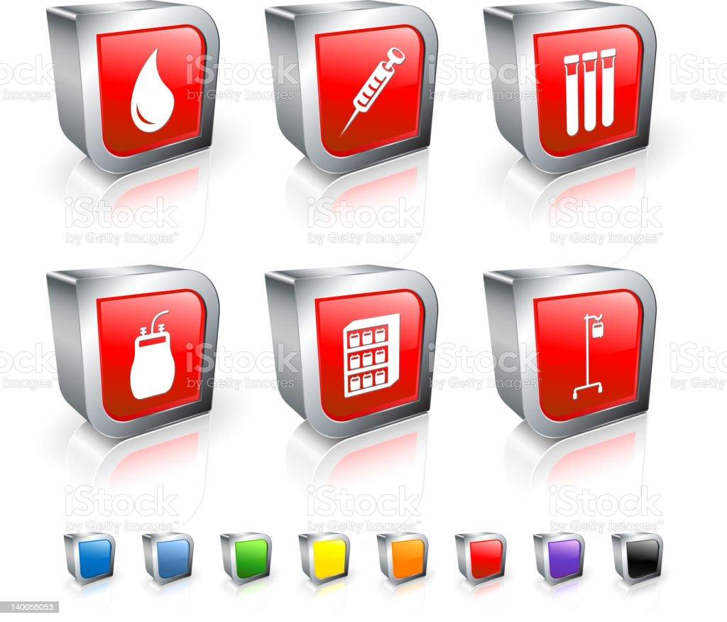 blood bank royalty free vector icon set vector art illustration