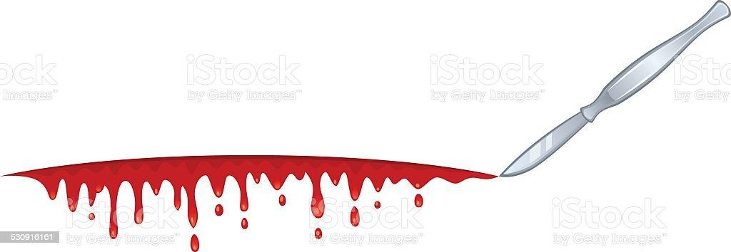 Blood blade vector art illustration