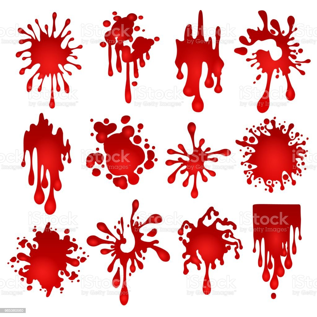 Blood blots set royalty-free blood blots set stock vector art & more images of art