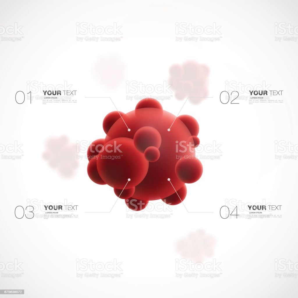 Blood cell design with your content vector art illustration
