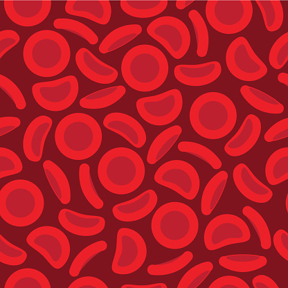 Blood Cells in a repeat pattern - Vector illustration