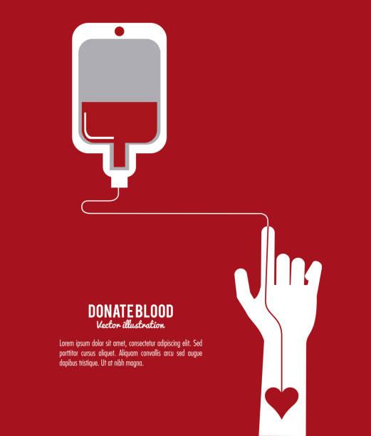 ilustrações de stock, clip art, desenhos animados e ícones de blood design. health care icon. colorful illustration - blood donation