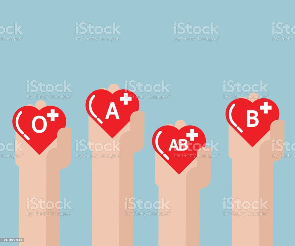 blood donate, donation concept with heart shape in human hand vector art illustration