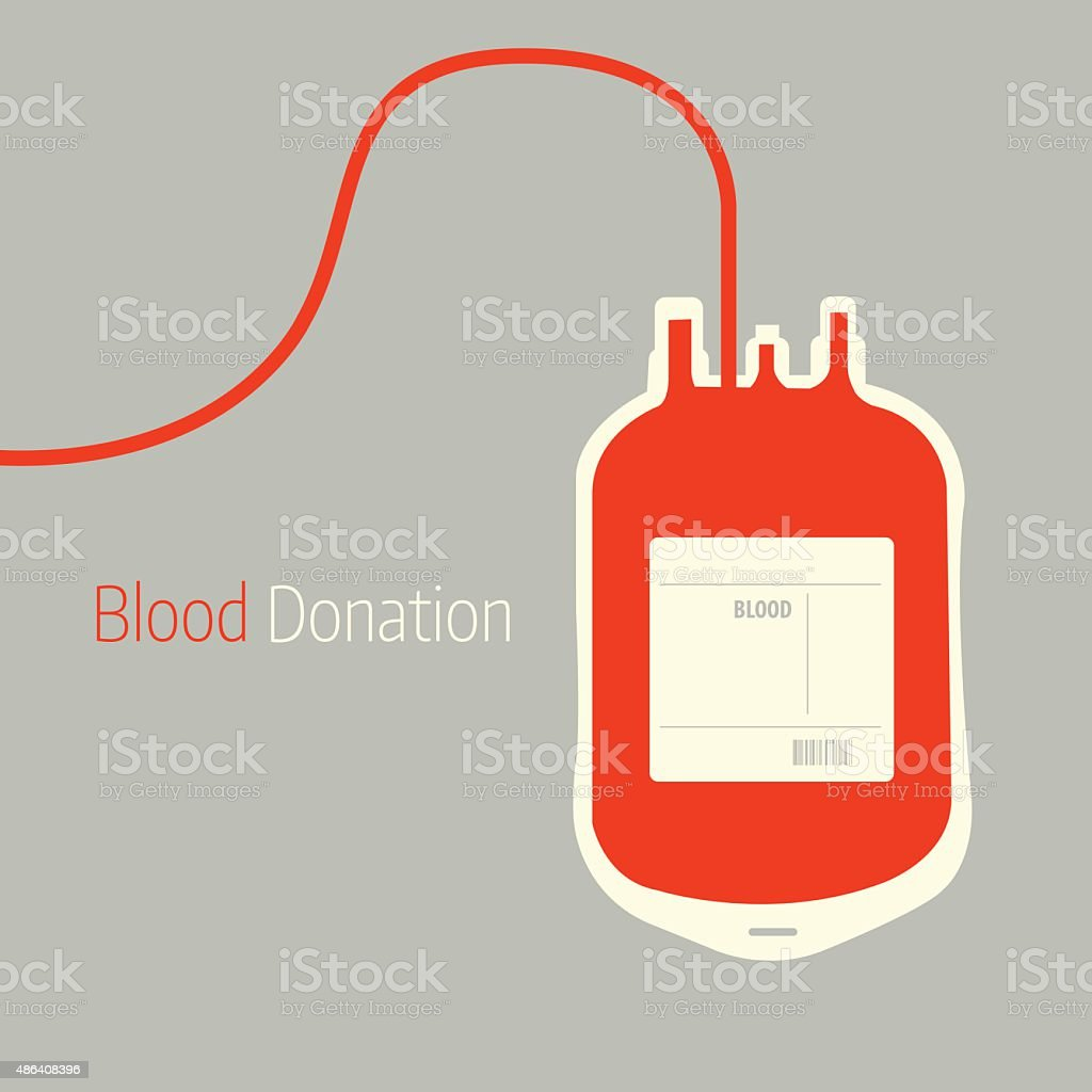 Blood Donation background vector art illustration
