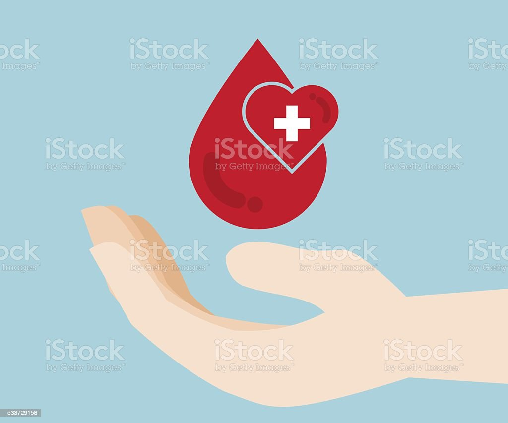 blood donation, blood donor background vector art illustration