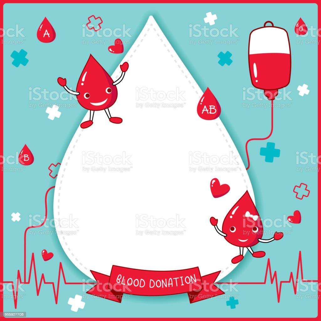 blood donation blue vector art illustration